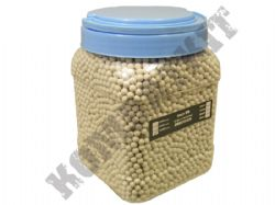 10000 x 6mm x 20g White Polished Airsoft BB Gun Pellets in Tub with handle